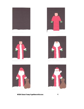Downloadable Santa and Toy Bag Cut and Paste Pattern Packet