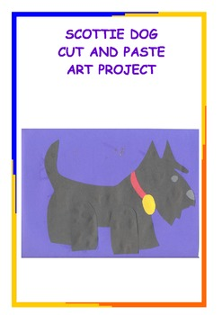 Downloadable Scottie Dog Cut and Paste Art Project