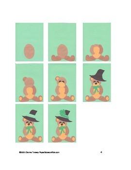 Downloadable Shamrock Teddy Bear Cut and Paste Art Project Pattern Packet