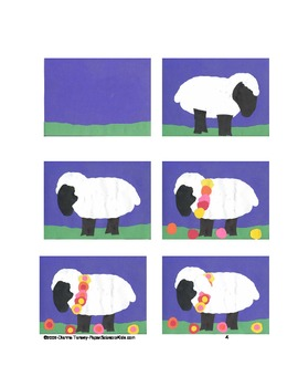 Downloadable Sheep Cut and Paste Art Project Pattern Packet
