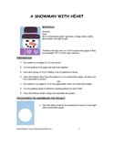 Downloadable Snowman With Heart Cut and Paste Art Activity for Bulletin Boards