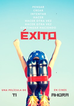 """Downloadable Spanish Poster: """"Éxito"""""""