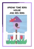 Downloadable Spring Time Bird House Cut and Paste Art  Pattern Packet