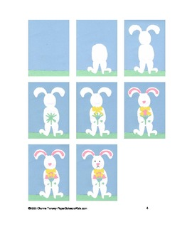Downloadable Springtime Bunny Cut and Paste Art Project Pattern Packet