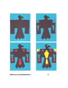 Downloadable Thunderbird Cut and Paste Art Project Pattern Packet