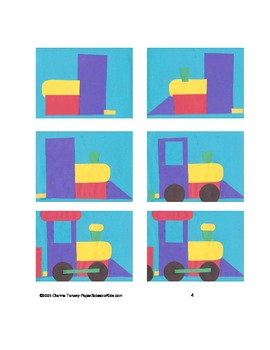 Downloadable Toy Train Paste Pattern Packet