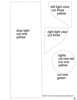 Downloadable Traffic Light Cut and Paste Art Activity for Bulletin Boards