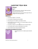 Downloadable Valentine Bear Cut and Paste Art Project Pattern Packet