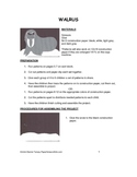 Downloadable Walrus Cut and Paste Art Project Pattern Packets