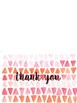 Downloadable  Watercolor Thank you Cards