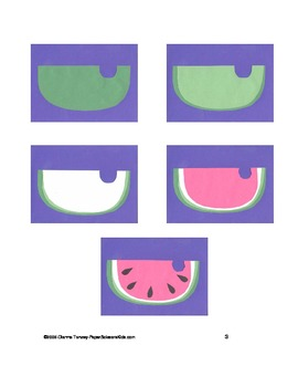 Downloadable Watermelon Cut and Paste Art Project Pattern Packet