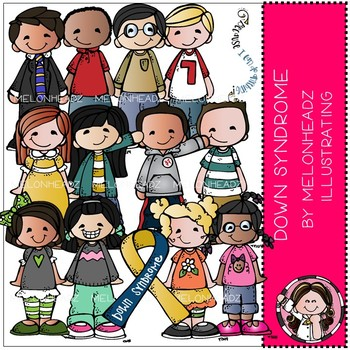 Down Syndrome Awareness clip art- by Melonheadz