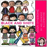 Down Syndrome Awareness clip art - BLACK AND WHITE- by Melonheadz