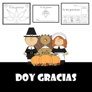 Doy Gracias Bundle (Thanksgiving activities (Dia de accion de gracias)