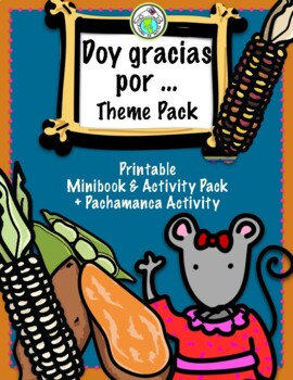 Doy gracias por... Thanksgiving Give Thanks Spanish Minibook & Activity