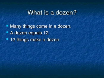 Dozen and Half Dozen Powerpoint