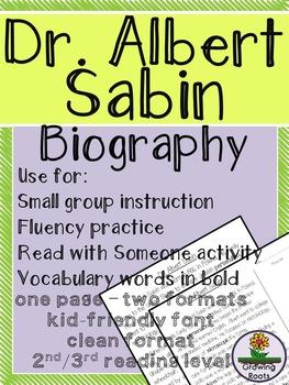 Dr. Albert Sabin Biography