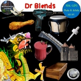Dr Blends Clip Art Phonics Photo & Artistic Digital Stickers