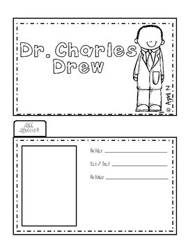 Dr. Charles Drew Writing Tab Book