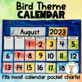 Pocket Chart Calendar Cards - Nature Theme Decore