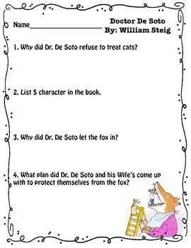 Dr. De Soto Reading Response Questions