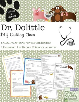 Dr. Dolittle Themed Cooking Activities and Recipes