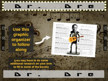 Dr. Dre: 25 slides with text, hyperlinks, primary sources, & handouts