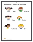 Dr. Fraida: Self Regulation Emotions List with Pictures