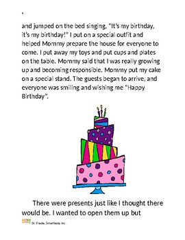 Dr. Fraida: Self Regulation Paired Birthday Social Story