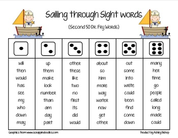 Dr. Fry Sailing Through Sight Words Packet