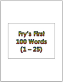 Dr. Fry's First 100 Vocabulary Sight Words (1 - 100) PowerPoint & Flash Cards