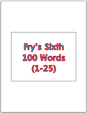 Dr. Fry's Sixth 100 Vocabulary Sight Words (1 - 100) Power