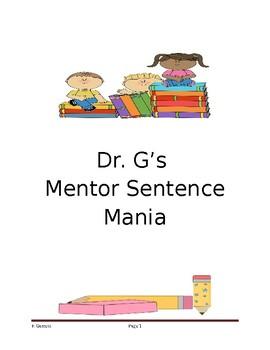 Dr. G's Mentor Sentence Mania