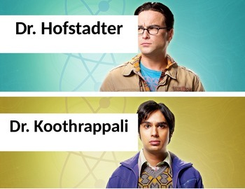 Dr. Hofstadter and Dr. Koothrappali Table Group Name Plates