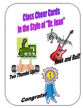 """Dr. Jean"" Style Class Cheer Cards!"