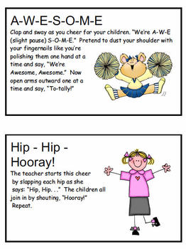 Dr. Jean's Cheers Cards #25 through #32 Pre-K to 2