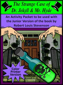 Dr. Jekyll & Mr. Hyde Junior Classic Novel Study Halloween Activities - Color