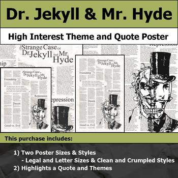 Dr. Jekyll & Mr. Hyde - Visual Theme and Quote Poster for Bulletin Boards