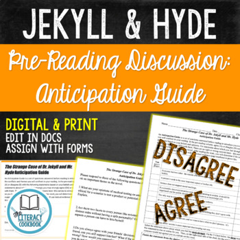 Dr. Jekyll and Mr. Hyde Anticipation Guide