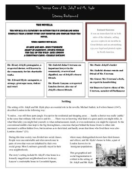 Dr. Jekyll and Mr. Hyde Background Information