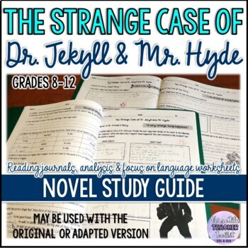 UPDATED Dr Jekyll and Mr Hyde Reading Journals with Answer Key (Level3)