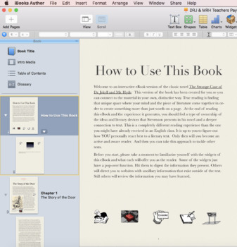 Dr. Jekyll and Mr. Hyde Interactive eBook iBook Activity by Catherine Dunn