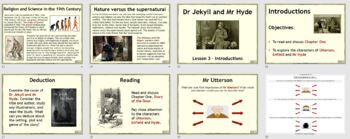 Dr Jekyll and Mr Hyde teaching resources - PowerPoint, worksheets and plan