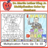 Dr. King Math Multiplication Color By Number Worksheet