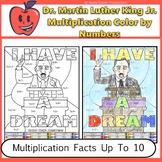Dr. King Math Multiplication Color By Number Worksheet