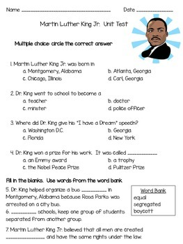 Dr. King Unit Test