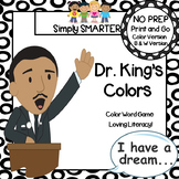 Dr. King's Colors:  NO PREP Color Word Spin Game