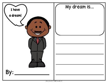 Dr. King's Dream Writing: I have a dream... (in English)