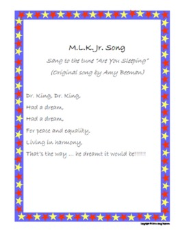 Dr. King's Dream Original Song