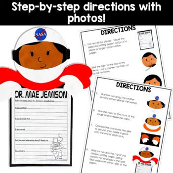 Dr. Mae Jemison craft (Black History; Astronauts; Space) K-5